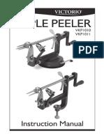 Victorio Apple Peeler User Manual