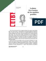 Leibniz - En El Mejor De Los Mundos Posibles