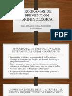 Clase 1.2. 1 Programas de Prevención Criminológica