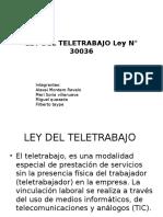 LEY DEL TELETRABAJO Ley N° 30036