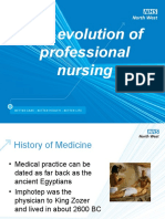 The Evolution of Professional Nursing