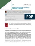 Da Comunicação Em Massa à Comunicação Em Rede. Gustavo Cardoso