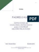 El Coaching Ontologico Aplicado a Relaciones Entre Padres e Hijos - Autor_Graciela_Diana