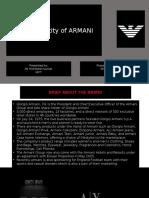 Brand Identity of Armani