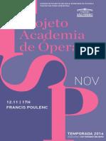 Programa de Sala | Academia de Ópera | Francis Poulenc (novembro)