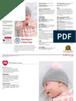 LW5178 Newborn Cozy Cap Free Knitting Pattern