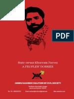 State versus Khurram Parvez - A PEOPLES' DOSSIER
