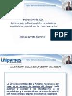Sesión 2 Autorización y Calificación de Los Importadores Exportadores y Operadores de Comercio Exterior