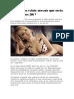 Conheça Os Robôs Sexuais Que Serão Lançados Em 2017