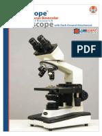 Fine Focus Binocular Co-Axial Research Microscope With Dark Ground Attachment