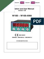 User Manual W100