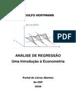 Hoffmann (2016) - Análise de Regressão - Introdução à Econometria
