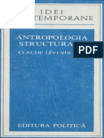Levi-Strauss Claude ANTROPOLOGIA STRUCTURALA 1978