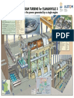 Flamanville France Nuclear Power Plant Wallchart