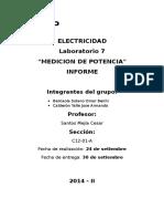Informe de Electricidad #07
