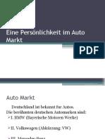 Eine Persönlichkeit Im Auto Markt