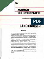 Manual Del Propietario Toyota Land Cruiser KDJ 90