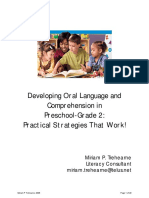 rdg 350 - oral language in prek - grade 2