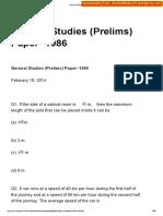 1986 GS Prelims Paper [Shashidthakur23.Wordpress.com]