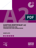 Goethe-Zertifikat A2 Wortliste