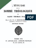 L Etude de La Somme Theologique de Saint Thomas d Aquin 000001171