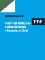 Educação Fundamental Orintações Gerais Português e Matemática