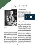 Opiniones Religiosas de Adolf Hitler