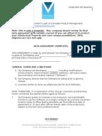 Sample Beta Agreement