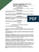LEY ORGÁNICA DEL ORGANISMO LEGISLATIVO GUATEMALA 63-94 A ACTUALIZADA CON EL ULTIMO DECRETO 35-2016