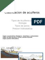 Clasificacion de Acuiferos
