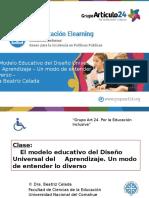 Power Point Clase El Modelo Educativo Del DIseño Universal Del Aprendizaje