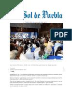 09.11.2016 El Sol de Puebla - Se Reúne Moreno Valle Con Militantes Panistas de Guanajuato