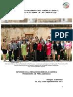 """09-11-16 Encuentro Parlamentario América Central """"El camino electoral de las candidatas"""""""