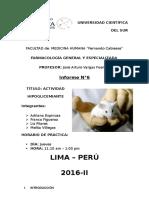 Informe 6 - Actividad Hipoglicemiante