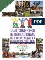 Memorias Congreso Internacional Experiencias De Profesores