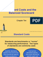 Chapter 10 - Standard Costs and the Balance Scorecard