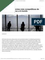 Las 10 economías más competitivas de América Latina y el mundo | Foro Económico Mundial