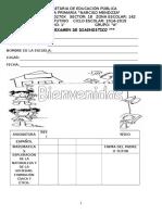 1er Examen de Diagnostico 2 2014 - 2015