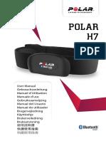 Polar H7 Heart Rate Sensor Accessory Manual Espanol