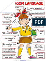 Classroom Language for Students Poster Worksheet