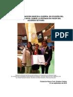 09-11-16 Informe sobre la entrada en vigor del Acuerdo de París