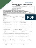 Evaluacion 8° P 1 2016