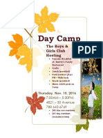 Day Camp Nov 10, 2016