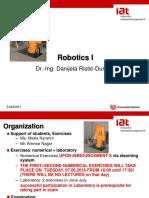 Robotics Lecture Part 1