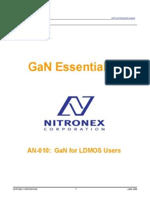 Nitronex AN-010 Gan Essentials for LDMOS users | Amplifier