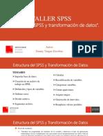 Presentación Taller SPSS Módulo 1