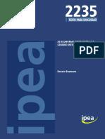 As Economias Emergentes e o Cenário Internacional IPEA 2015