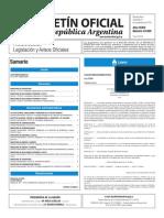 Boletín Oficial de la República Argentina, Número 33.500. 09 de noviembre de 2016