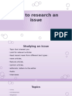 How to Research an Issue
