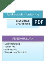 Aplikasi Job Monitoring